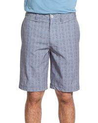 Travis Mathew - Gray 'bearing' Wrinkle Resistant Hybrid Stretch Shorts for Men - Lyst
