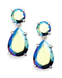 kate spade new york | Blue Double Drop Crystal Earrings | Lyst