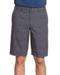 Travis Mathew - Gray 'dasher' Water Repellent Stretch Golf Shorts for Men - Lyst