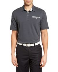 Travis Mathew - Gray 'guy' Stretch Cotton Jersey Golf Polo for Men - Lyst