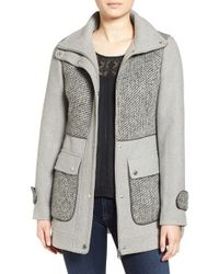 Jessica Simpson | Gray A-line Coat | Lyst