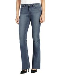 PAIGE | Blue Transcend - Bell Canyon High Waist Raw Hem Flare Jeans | Lyst