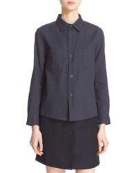 A.P.C. - Blue 'nancy' Cotton & Linen Shirt - Lyst