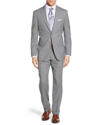 David Donahue - Gray Classic Fit Super 120s Wool Pinstripe Suit for Men - Lyst