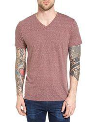 The Rail | Pink Feeder Stripe V-neck T-shirt for Men | Lyst