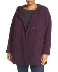 Gallery | Purple Quilted Hooded Jacket | Lyst