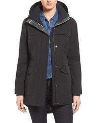 Pendleton | Black Hooded Raincoat | Lyst