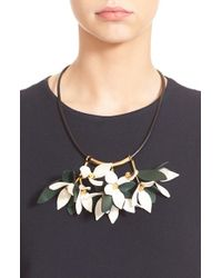 Marni | Green Floral Calfskin Leather Necklace | Lyst