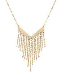 Lana Jewelry - Metallic Fringe Pendant Necklace - Lyst