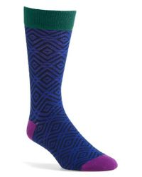Ted Baker - Blue 'wise' Geometric Socks for Men - Lyst