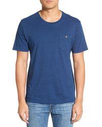 Tailor Vintage | Blue Pocket Crewneck T-shirt for Men | Lyst