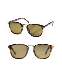 b80f311081b Lyst - Krewe  franklin  49mm Polarized Retro Sunglasses - Blonde ...