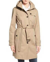 MICHAEL Michael Kors | Natural Hooded Trench Coat | Lyst