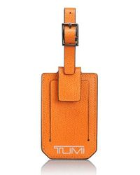Tumi | Orange 'camden' Leather Luggage Tag | Lyst