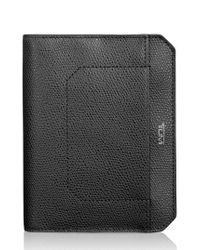 Tumi | Black Leather Passport Cover | Lyst