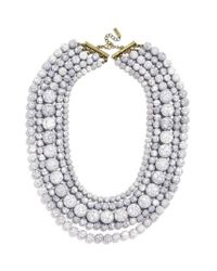 BaubleBar | Gray 'globe' Multistrand Beaded Necklace | Lyst