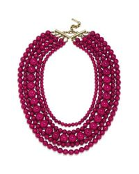 BaubleBar | Red 'globe' Multistrand Beaded Necklace | Lyst