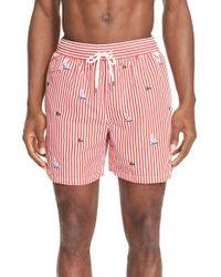 842fe74fe6 Lyst - Polo Ralph Lauren 'traveler' Swim Trunks in Orange for Men