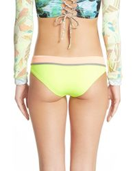 Maaji - Green 'lime Cubism' Reversible Bikini Bottoms - Lyst