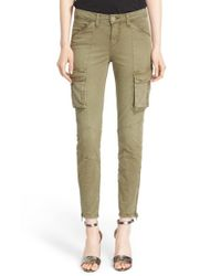 L'Agence - Green Skinny Cargo Pants - Lyst