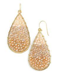 Panacea - Metallic Ombre Crystal Teardrop Earrings - Lyst
