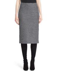 St. John | Multicolor Chain Knit Pencil Skirt | Lyst