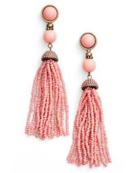 BaubleBar - Pink 'artemis' Beaded Tassel Drop Earrings - Lyst