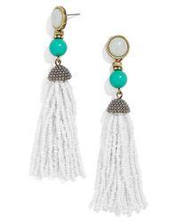 BaubleBar | Metallic 'artemis' Beaded Tassel Drop Earrings | Lyst