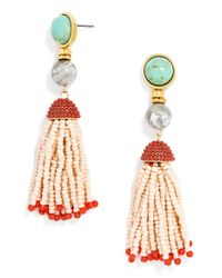 BaubleBar - Pink 'lagos' Beaded Tassel Earrings - Lyst