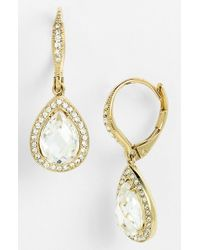 Nadri   Metallic Pear Drop Earrings (nordstrom Exclusive)   Lyst