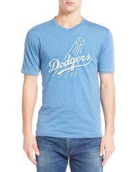 Red Jacket   Blue 'los Angeles Dodgers - Calumet' Graphic V-neck T-shirt for Men   Lyst