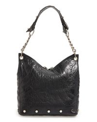 Jimmy Choo - Black Raven Studded Leather Shoulder Bag - Lyst