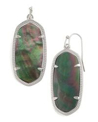 Kendra Scott | Green 'elle' Drop Earrings | Lyst