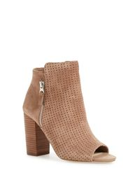 Jessica Simpson - Brown Keris Suede Open-Toe Boots - Lyst