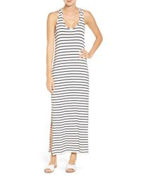 Amour Vert | Multicolor Toni Stripe Twist Back Maxi Dress | Lyst