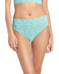Wacoal | Blue Halo High Cut Briefs | Lyst