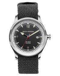 Jack Mason Brand - Black Nautical Woven Strap Watch for Men - Lyst