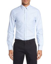 c4235ae364 Lyst - Burberry  reagan  Extra Trim Fit Solid Cotton Sport Shirt in ...