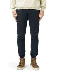 TOPMAN - Blue Skinny Fit Woven Jogger Pants for Men - Lyst