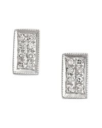 Dana Rebecca | Metallic 'katie' Diamond Stud Earrings | Lyst