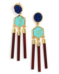 BaubleBar - Blue 'jungle' Drop Earrings - Lyst