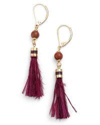 kate spade new york - Purple 'swing Time' Small Tassel Earrings - Lyst