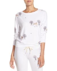 All Things Fabulous | White Tiger Print Sweatshirt | Lyst
