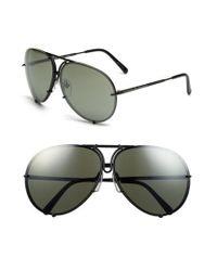 90e901e7d35 Lyst - Porsche Design  p8478  66mm Aviator Sunglasses in Black for Men