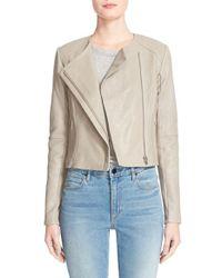 VEDA | Natural 'dali' Lambskin Leather Jacket | Lyst