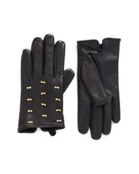 Ted Baker | Black Micro Bow Leather Glove | Lyst