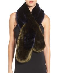 Ted Baker | Black Faux Fur Stole | Lyst