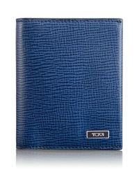 Tumi | Blue 'monaco' Leather Card Case for Men | Lyst