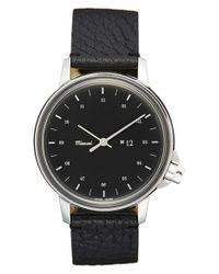Miansai | Black 'm12' Leather Strap Watch for Men | Lyst