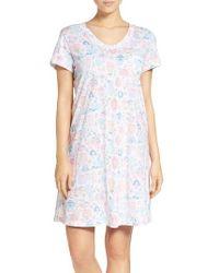 Carole Hochman   White Print Cotton Sleep Shirt   Lyst